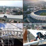 Avanza a buen ritmo la renovación de las luminarias del estadio 'Pascual Guerrero'